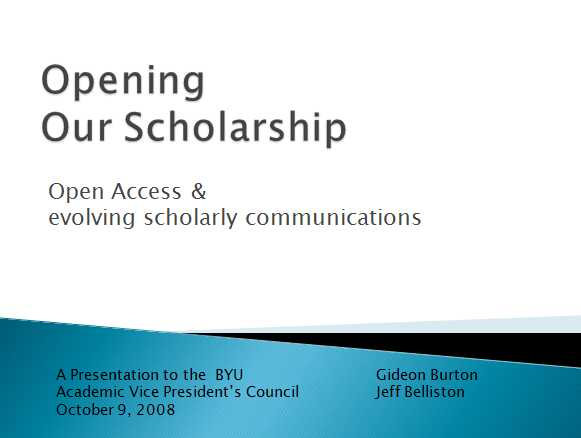 OpeningOurScholarship